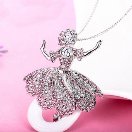 Exquisite Princess Shape Crystal Sweater Chain
