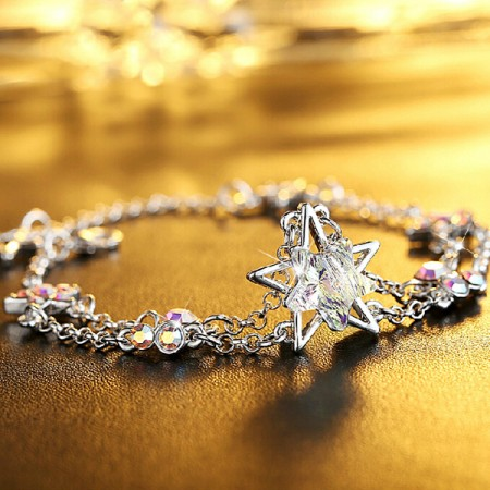 Charming Natural Crystal Star Shape Bracelet For Women