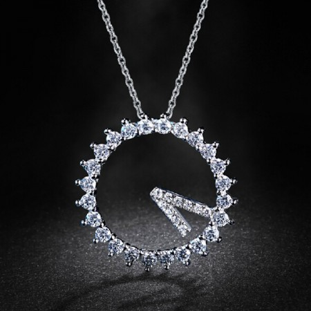 Beauty 925 Sterling Silver CZ Inlaid Women's Necklace