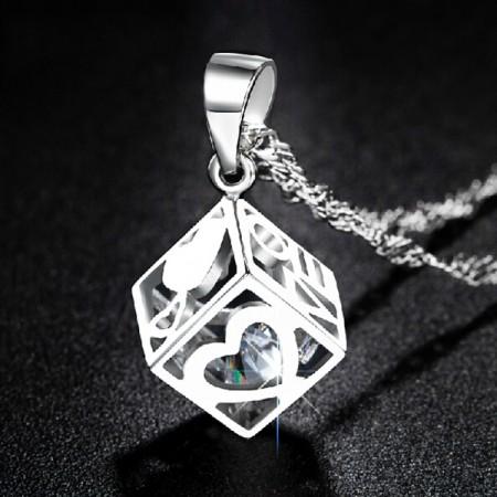 Sweet LOVE 925 Sterling Silver Women's Necklace
