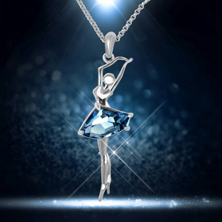 Latest Crystal Ballet Girl Shape Pendant/Necklace For Women