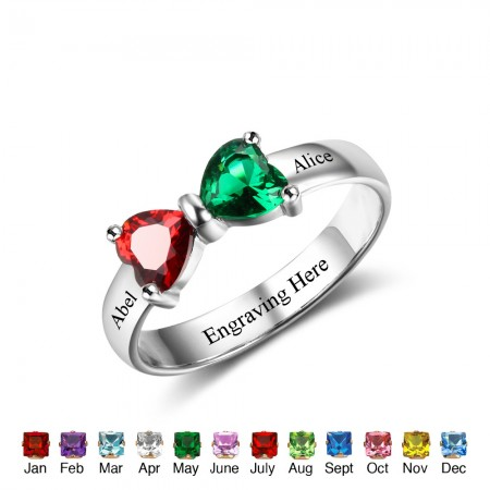 unique mothers birthstone ring