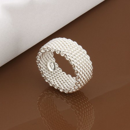 Personalized Reticulated Silver Ring