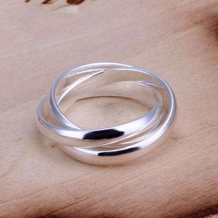 Creative Three-Ring 925 Silver Ring