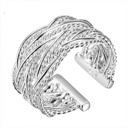 Fashion 925 Silver Reticulated Ring