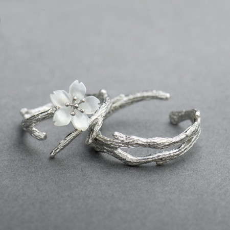 Original Design Sterling Silver Simple Cherry Couple Rings
