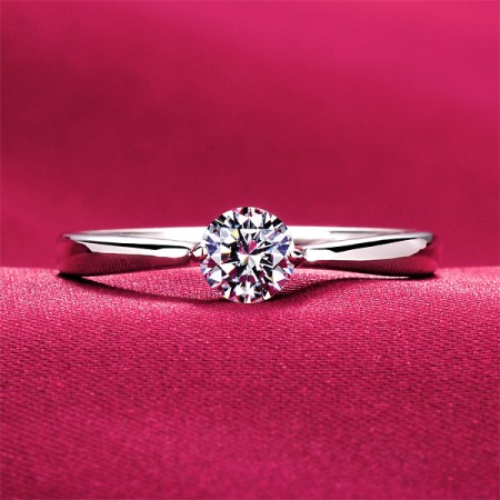 0.28 Carat Simulated Diamond Engagement/Wedding/Promise Ring For Her
