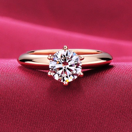 1.0 Carat Simulated Diamond Engagement/Wedding/Promise Rose Gold Ring For Her