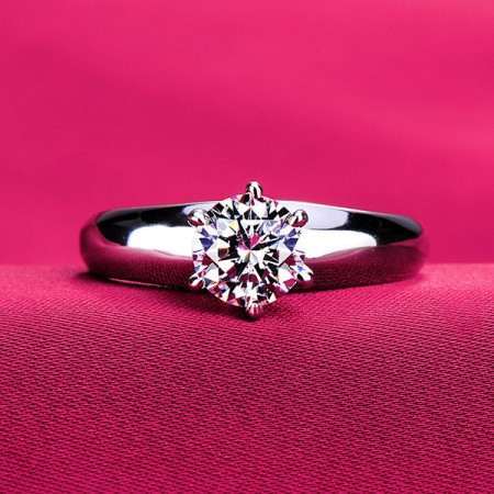 0.6 - 2.0 Carat Simulated Diamond Engagement/Wedding/Promise Ring For Her