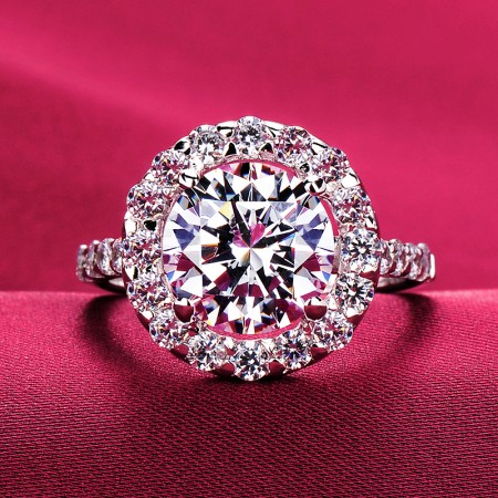 3.0 Carat Simulated Diamond Engagement/Wedding/Promise Ring For Her