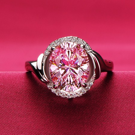 3.0 Carat Pink Yellow Simulated Diamond Engagement/Wedding/Promise Ring For Her