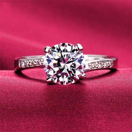 1.5 Carat Simulated Diamond Engagement/Wedding/Promise Ring For Her