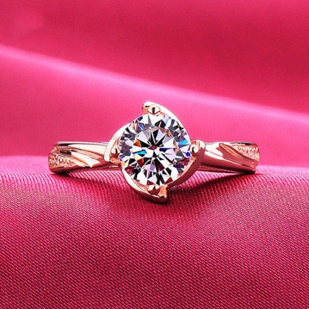 1.2 Carat Simulated Diamond Engagement/Wedding/Promise Rose Gold Ring For Her