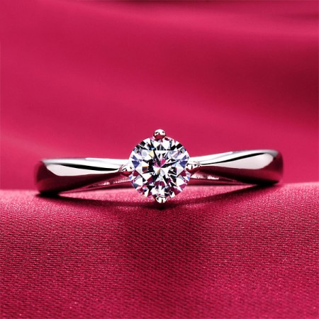 0.39 Carat Simulated Diamond Engagement/Wedding/Promise Ring For Her
