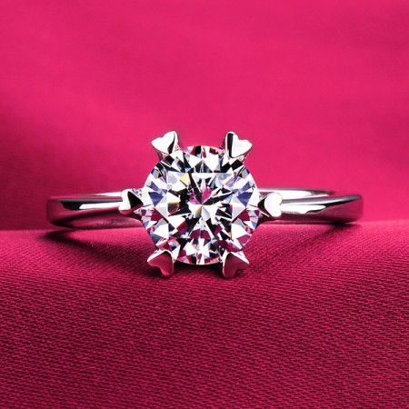 0.5 - 1.2 Carat Simulated Diamond Engagement/Wedding/Promise Ring For Her