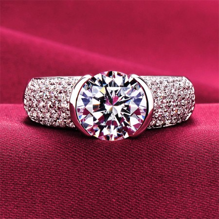 2.0 Carat Simulated Diamond Engagement/Wedding/Promise Ring For Her