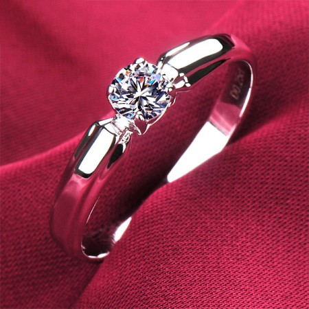 0.2 Carat Simulated Diamond Engagement/Wedding/Promise Ring For Her
