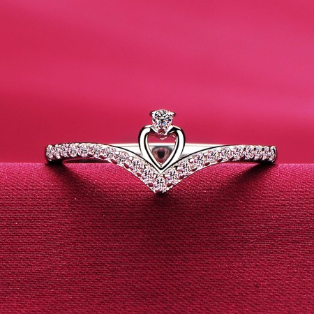 0.01 Carat Simulated Diamond Engagement/Wedding/Promise Ring For Her