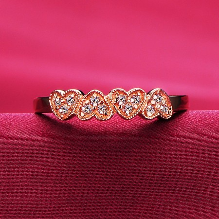 Rose Gold Engagement/Wedding/Promise Ring For Her