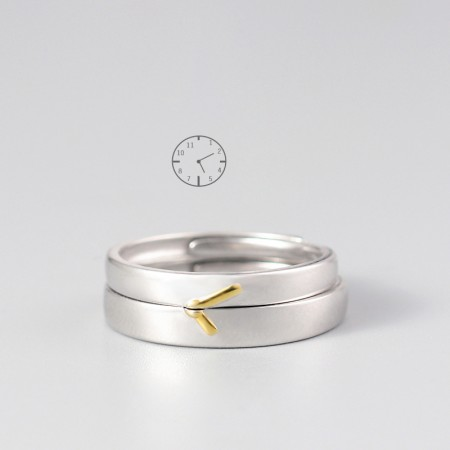 Forever 5:20 Original Korean Simple Design 925 Sterling Silver Lovers Couple Rings