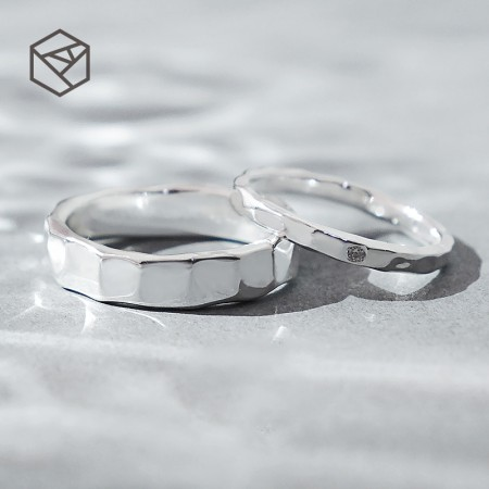 Every Side Of Love Simple Design 925 Sterling Silver Lovers Couple Rings