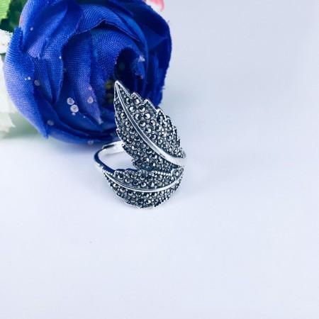 Leaf Shape Original Design s 925 Sterling Silver Lady's Ring
