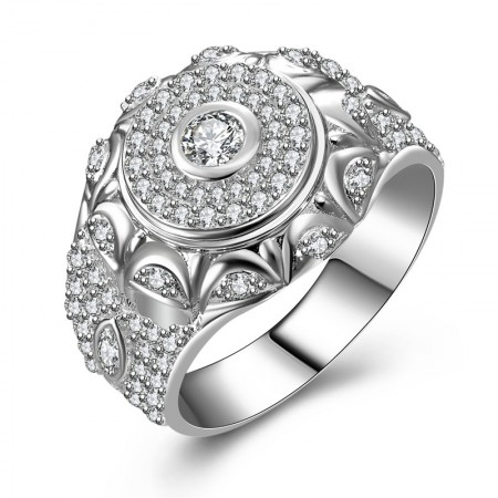 Fashionable Korean Style s925 Sterling Silver Man's Ring