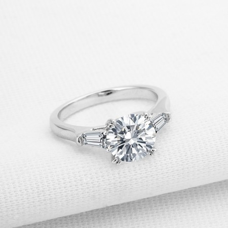 Personalized 2.0 Carat Diamond 925 Sterling Silver Lady's Ring