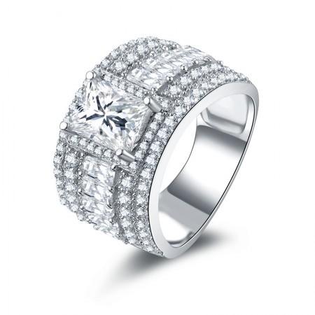 Original Design SONA Diamonds Sterling Silver Engagement/Wedding Ring For Her