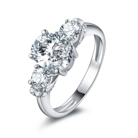 High-End SONA Diamonds Sterling Silver Lady's Promise Ring Wedding Ring