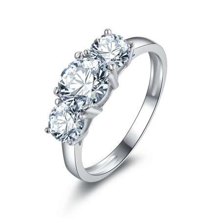 SONA Diamonds Creative Design Sterling Silver Lady's Engagement/Wedding Ring