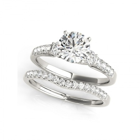Luxurious 1.0 Carat Group Diamonds Sterling Silver Lady's Engagement/Wedding Ring