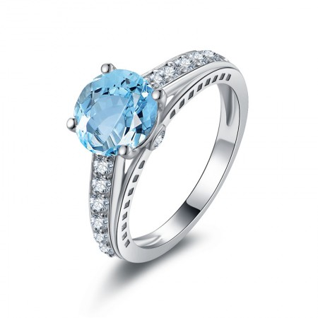 Luxurious Topaz s925 Sterling Silver Lady's Engagement/Wedding Ring