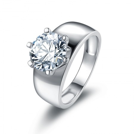 Original Simple Design SONA Diamonds Sterling Silver Promise Ring Wedding Ring For Her