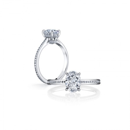 Fine Cutting Shinning SONA Diamonds Sterling Silver Lady's Promise Ring Wedding Ring