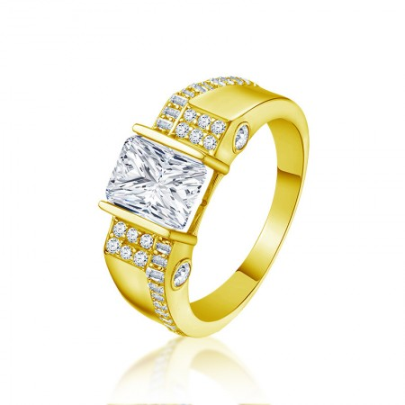 10k Gold Cubic Zirconia Man's Engagement/Wedding Ring