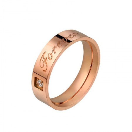 Simple Design Forever Love 316L Titanium Steel Lovers Widened Couple Rings