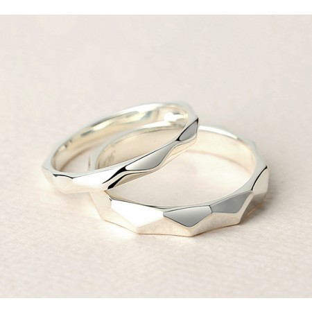 Love Around You Sterling Silver Lovers Couple Rings