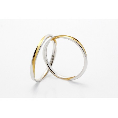 Classic Mobius Design Color Separation s925 Sterling Silver Lovers Couple Rings
