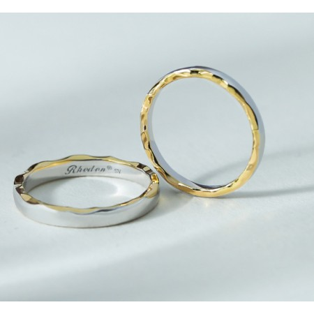 Moon And Sea s925 Sterling Silver Lovers Couple Rings