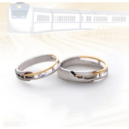 The Next Station Of Happiness Moonstone Sterling Silver Lovers Adjustable Couple Rings