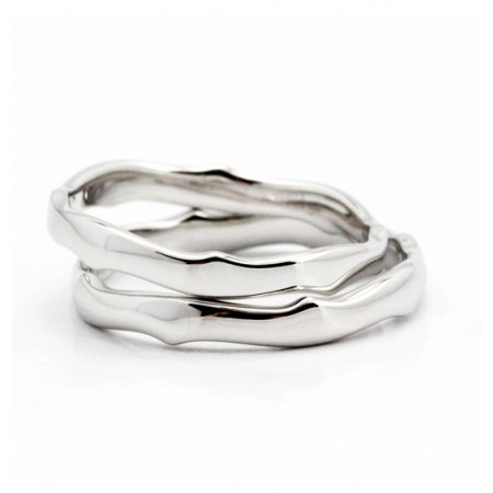 Stride Over Thorns s925 Sterling Silver Lovers Couple Rings