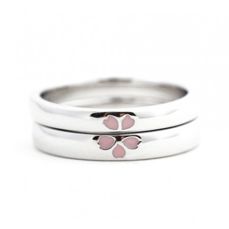 b024e87182 Original Design Cherry Blossoms s925 Sterling Silver Lovers Couple Rings