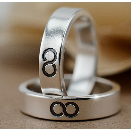 The Exclusive Mark Of Love Sterling Silver Lovers Couple Rings