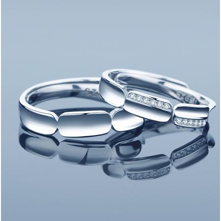 Original Crown Design s925 Sterling Silver Lovers Adjustable Couple Rings