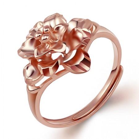 Beautiful Flower-Shape s925 Sterling Silver Ladies' Adjustable Rings