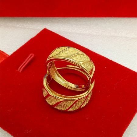 Love Shinning In Your Eyes 18K Gold Plated Lovers Adjustable Rings