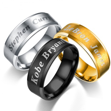 Show Your Enthusiasm Both Sides Can Be Engraved Titanium Steel Man's Ring