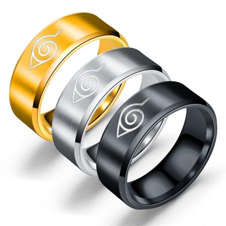 Cartoon Pattern Engraved Titanium Steel Man's Ring