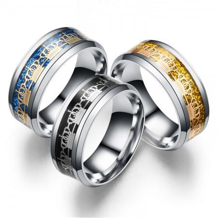 Delicate Ladies' Crown Titanium Steel Ring